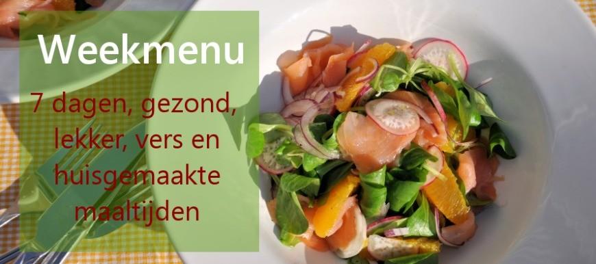 weekmenu; wat eten we vandaag - eenvoudige recepten