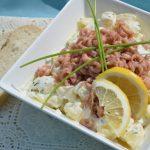 Aardappelsalade met verse Hollandse garnaaltjes