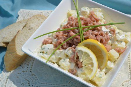 Aardappelsalade met hollandse garnalen (4)