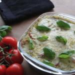 Aardappelgratin met tomaat en mozzarella