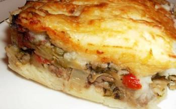 Sheperd's pie met paprika en courgette