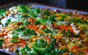 Luxe, macaroni ovenschotel met 3 kazen