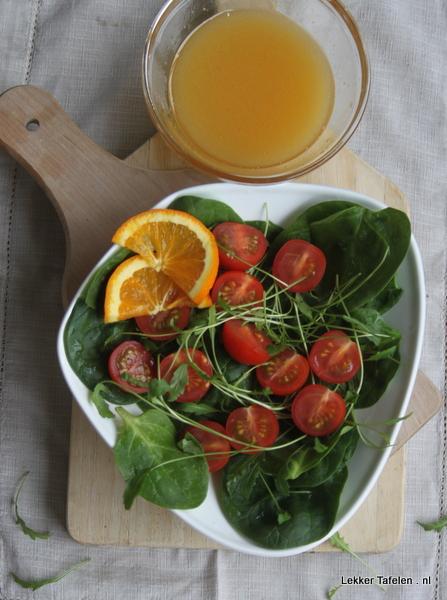 Spinazie rucola salade
