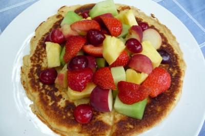Pannenkoek met zomerfruit