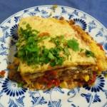 Mexicaanse tortilla taart met gehakt