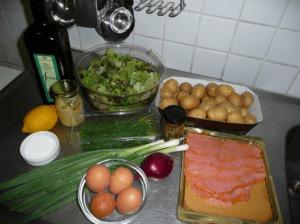 Noorse aardappelsalade met zalm