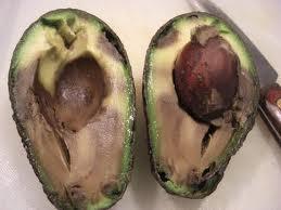 overrijpe avocado