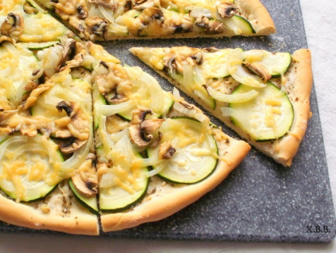 pizza met courgette