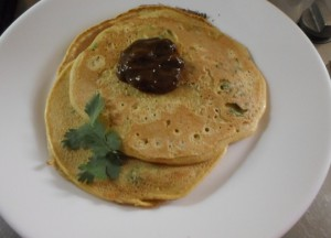 pudla besan, Indiaas platbrood van kikkererwtenmeel