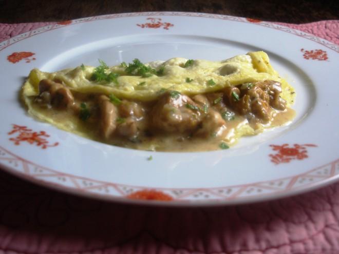 Omelet met cantharellen