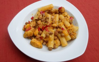 Kapucijners met kipfilet en pasta