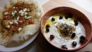Manakeesh met za'atar- feta- tomaat