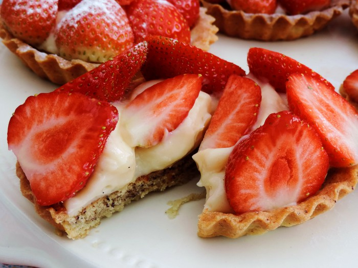 aardbeien taartje half