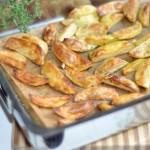 Aardappelpartjes uit de oven; lekker puur