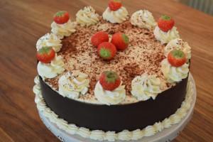 Chocoladetaart met mascarpone vulling
