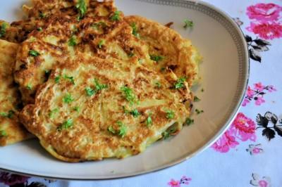Aardappel courgette koekjes
