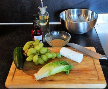 Druiven-geitenkaas salade 1