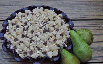 Peren chocolade crumble – Zet het seizoen op tafel