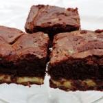 Brownie met salted caramel – Huisgemaakt