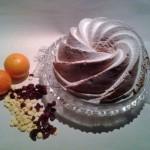 Tulband met cranberry's, sinaasappel en witte chocolade
