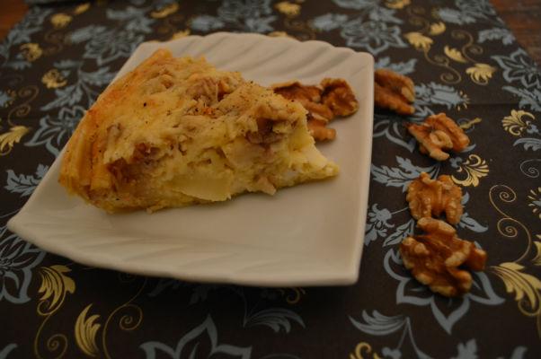 Hartige taart met pastinaak