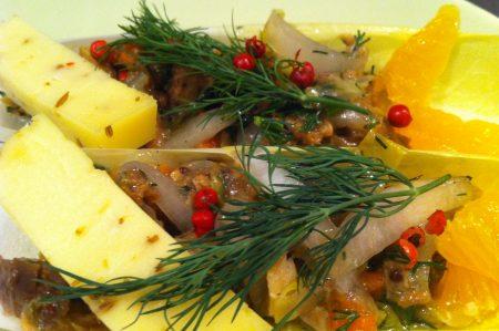 Vis uit blik makreel wit bier