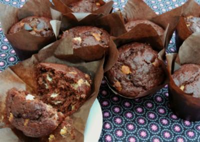 Chocolade-sinaasappel muffin