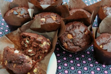 Chocolade-sinaasappel muffin