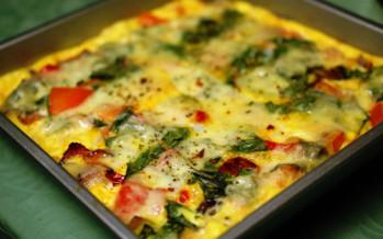 Frittata, omelet uit de oven