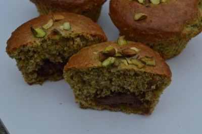 pistache chocolade muffin