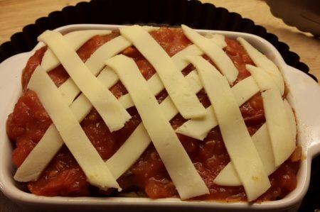 Met mozzarella bekleden