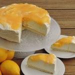 Lemoncurd 'niet-in-de-oven' cheesecake