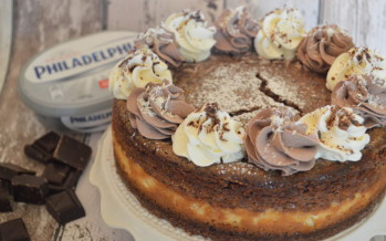 Dubbel laagse chocolade cheesecake