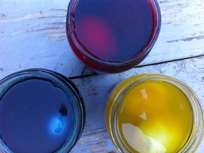 Gekleurde eieren verf