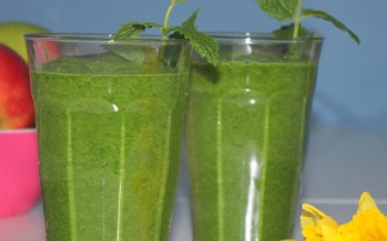 Frisse, groene lente smoothie