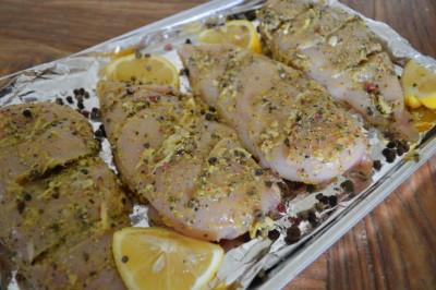 Kipfilet met citroen-peper marinade