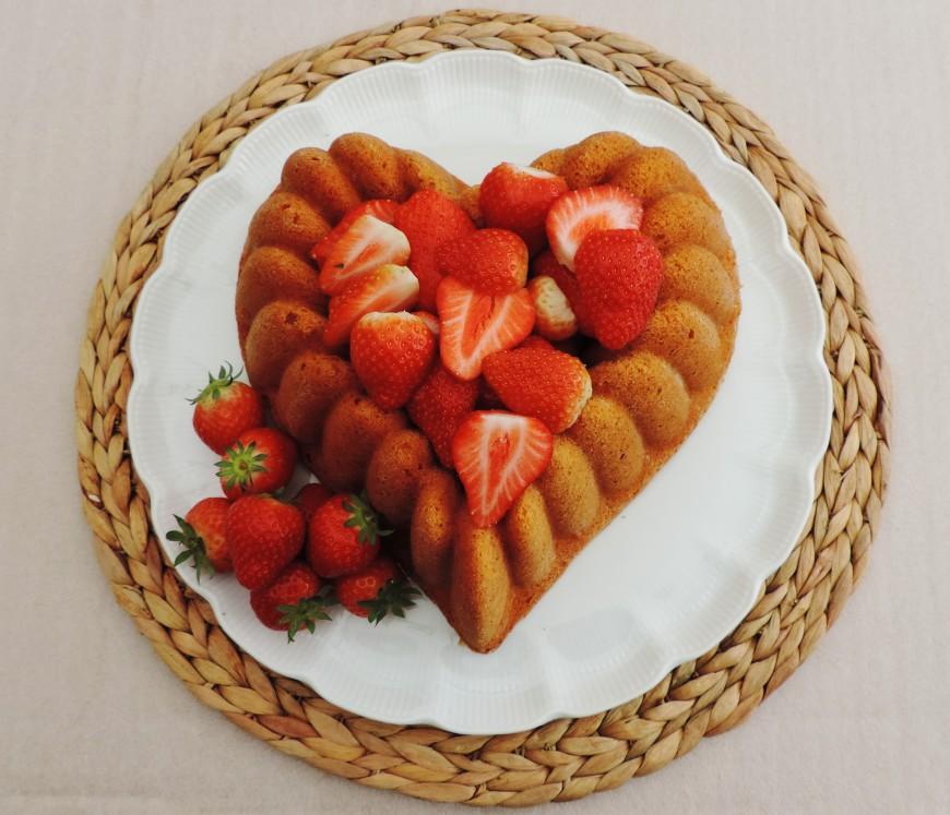 Aardbeiencake moederdag