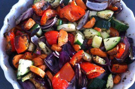 Gegrilde groenten uit de Philips Airfryer