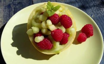 Meloen en framboos, heerlijke zomerse combinatie