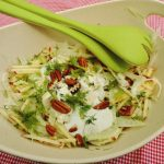 Salade met venkel, appel en blauwe kaas