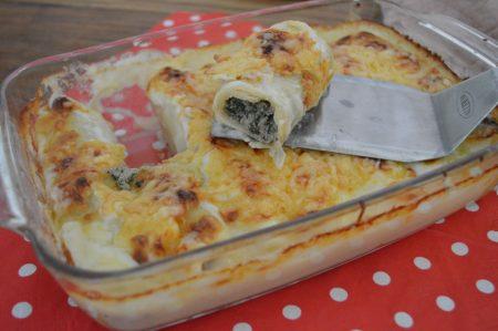 Pastarolletjes met gehakt en spinazie - Huisgemaakt