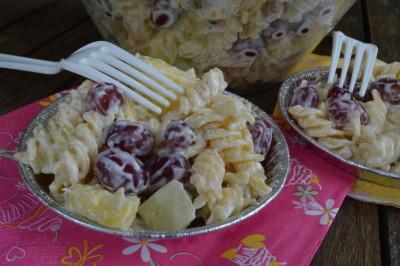 salade druiven pasta amandelen (6)