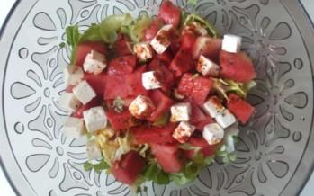 Watermeloensalade met anijscress en lavazout