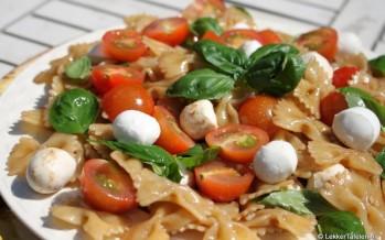 Pastasalade Caprese; voor een verrukkelijke pastasalade