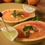 Papaya mango soep; Koude soep voor mooie zomerdagen