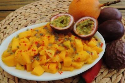 mango salsa granadilla passie fruit