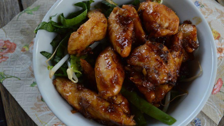 Oosterse salade met kip ketjap; Kamperen in je achtertuin