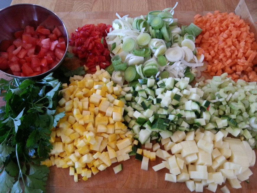 Zomerse groentesoep