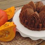 Pompoen cake met sinaasappel en rozijnen