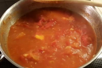 Champignons a la grecque tomato fritto